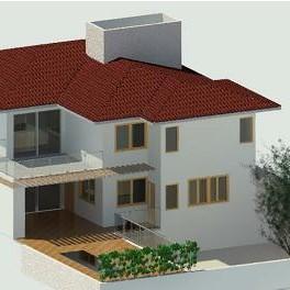Nuno-Verdi telha fundos com varanda